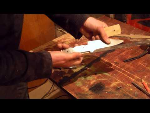 Как сделать нож из циркулярного диска