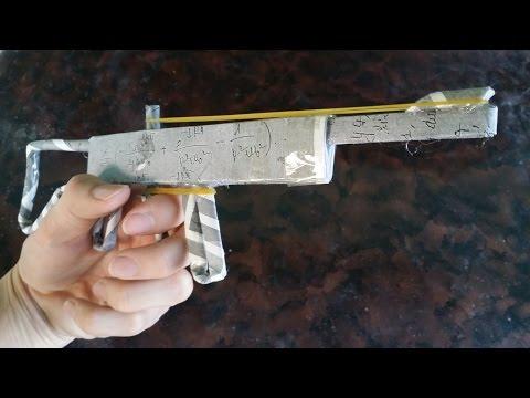 ГНТИ - как сделать пистолет с использованием бумаги - Видеорепортажи из мира науки и техники