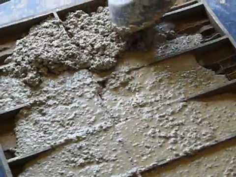 Заливка плитки из гипса