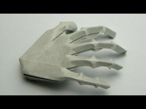 Как сделать руку скелета из бумаги своими