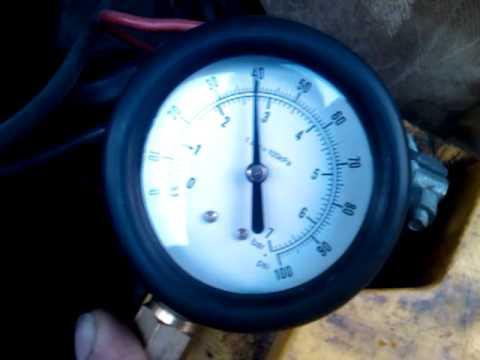 какое давление должно быть в топливной рампе ниссан