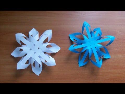 Поделки из бумаги своими руками снежинки из