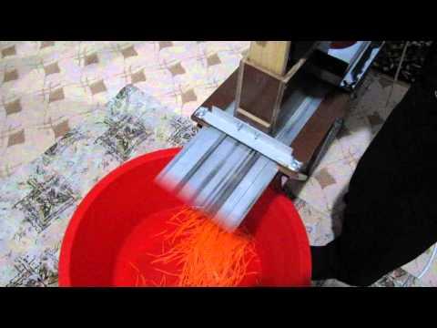 Терка для морковки по-корейски своими руками