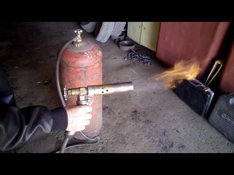 Как сделать газовую горелку своими руками видео