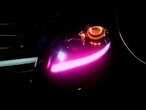 Подсветка линзы в фаре
