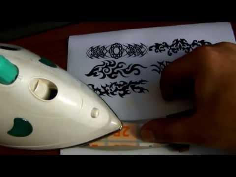 Как нанести рисунок на нож в домашних