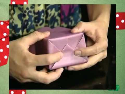 Как упаковать красиво подарок своими руками видео