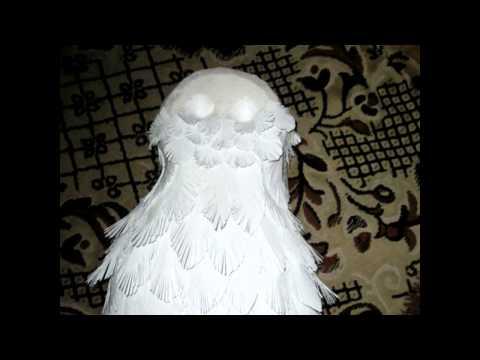 Сделать сову из перьев