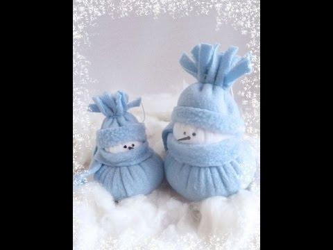 Новогодние подарки своими руками снеговик