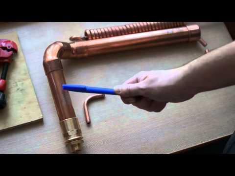 Дистиллятор из медной трубки видео