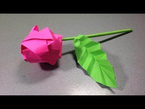 Подарок маме из бумаги оригами видео