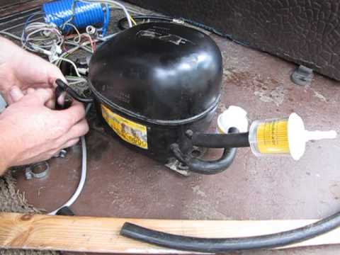 Компрессор из холодильника для накачки колес своими