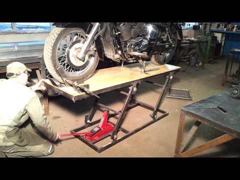 Подъемник для мотоцикла  видео