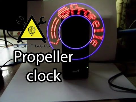 Пропеллер часы своими руками