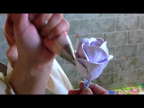 Как сделать розу на торт из крема в домашних условиях