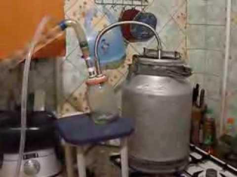 Самогонный аппарат из бидона своими руками видео