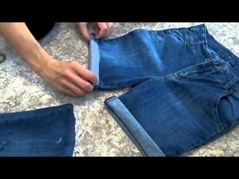 Бриджи из джинсов своими руками фото