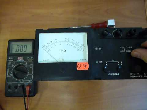 Инструкция Мегаомметр Ф41021 1м2
