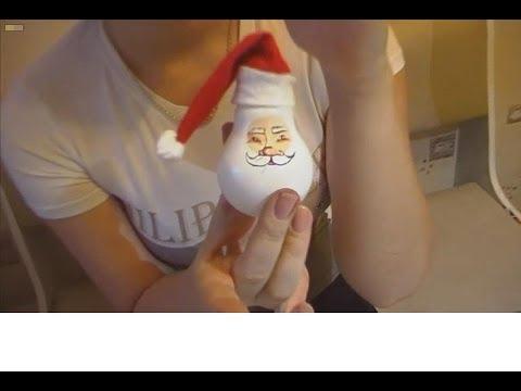 Дед мороз на лампочке своими руками