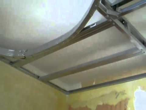 Навесной потолок из гипсокартона своими руками фото зала