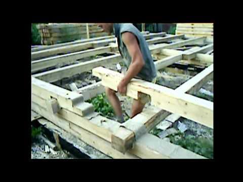 Видео как сделать дом из бруса своими руками