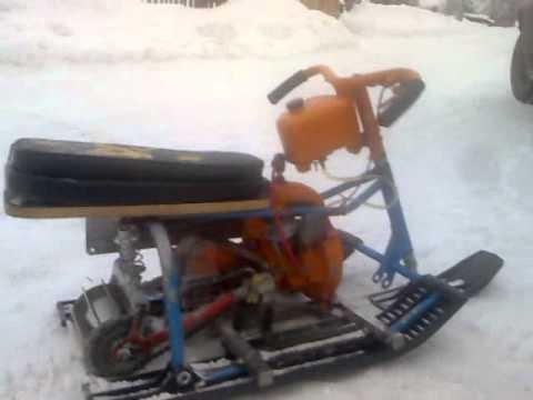 Как сделать снегоход из моторчика от машинки своими руками