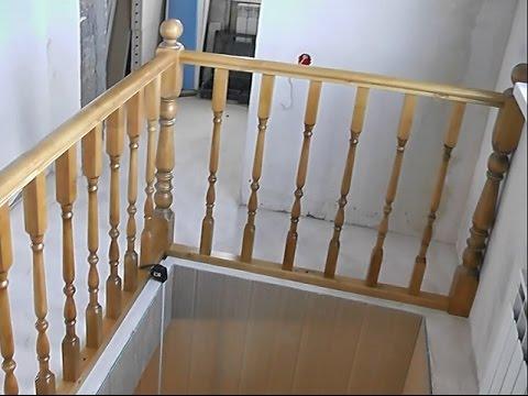 Перила для лестниц из дерева своими руками фото