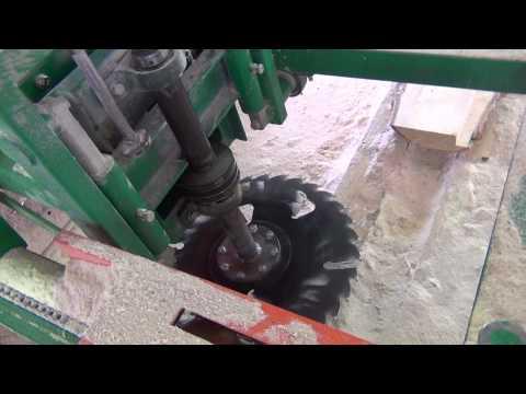 Бензиновая дисковая пилорама своими руками видео