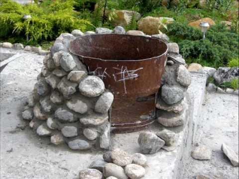Барбекю из камня своими руками