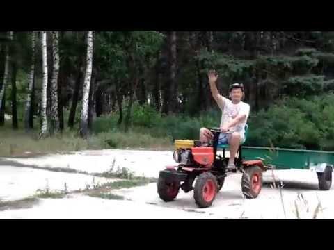 Минитрактор из мотоблока переломка своими руками видео