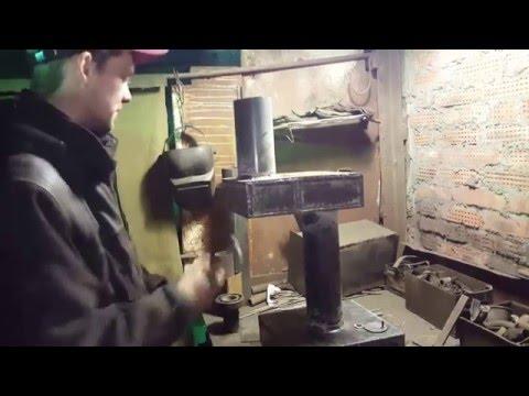 Печь на отработке своими руками на ютубе