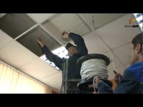 Установка потолка армстронг своими руками видео