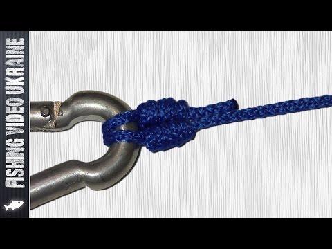безузловое соединение плетенки с крючком