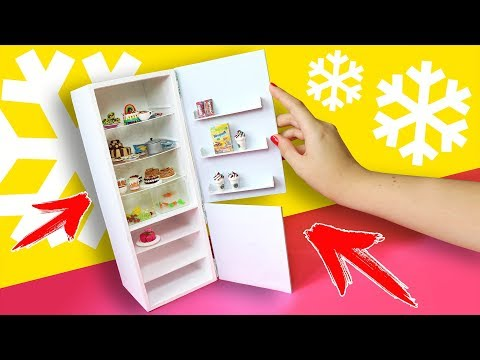 Как сделать для кукол из бумаги холодильник