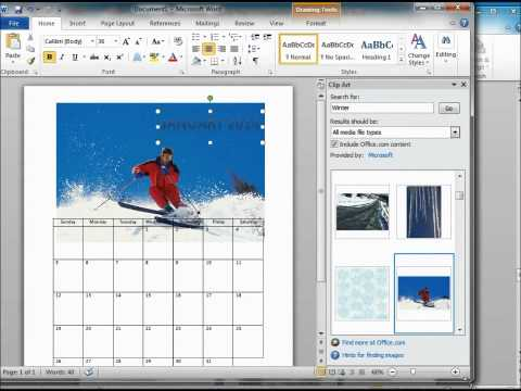 Как создать календарь в ворде 2013