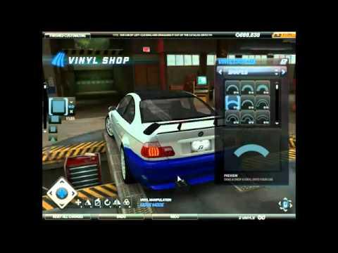 Онлайн-игры бесплатно NFS World - Custom NFSMW BMW M3 Vinyl Tutorial.