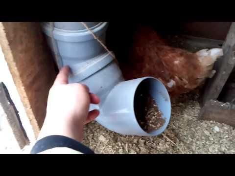 Кормушка для кур из трубы своими руками фото