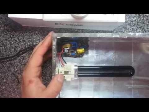 Как сделать ультрафиолетовую лампу своими руками