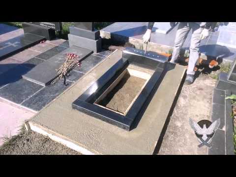 Как сделать фундамент для памятника своими руками видео