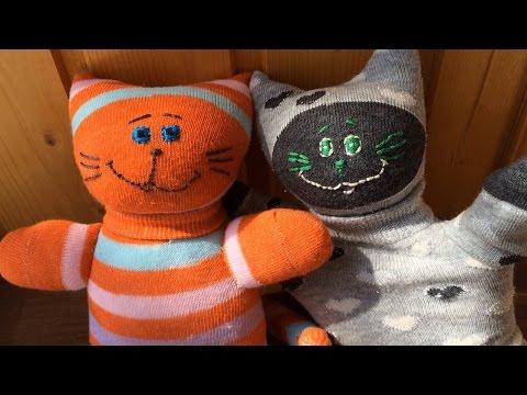 ГНТИ - Sock cat tutorial. Коты из носков развивающие, мастер класс. - Видеорепортажи из мира науки и техники