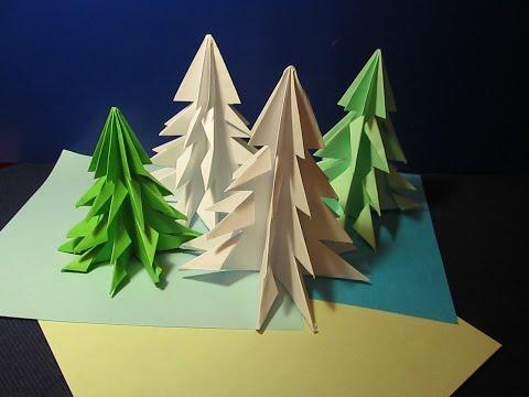 Оригами елки фото своими руками